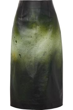 81425f99e7bb0 Calvin Klein 205w39nyc paint splatter leather midi pencil skirt