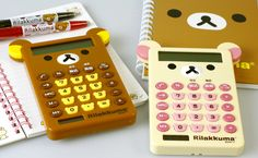 I'd face bear calculators for you? Strapya World : San-X Rilakkuma Calculator with Ears (Korilakkuma)