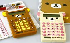 I'd face bear calculators for you? Strapya World : San-X Rilakkuma Calculator with Ears (Korilakkuma)