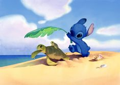 Lilo & Stitch watercolour backgrounds