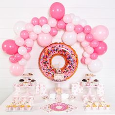 You donut want to miss this party—our Donut Party Kit comes with everything you need to host a delicious donut-themed party with your friends and family. Whether you're throwing a baby shower, birthda 2nd Birthday Party Themes, Donut Birthday Parties, Birthday Party Decorations, Girl Birthday, Donut Decorations, Frozen Birthday, Party Favors, Turtle Birthday, Turtle Party