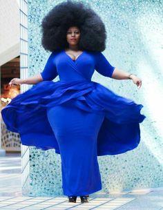 The Fabulous Nakitende Esther Plus Size Fashion For Women, Black Women Fashion, Plus Fashion, Fashion Styles, Plus Size Dresses, Plus Size Outfits, Nice Dresses, Curvy Plus Size, Plus Size Girls