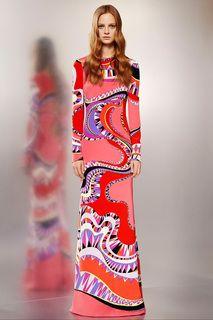 Emilio Pucci Pre-Fall 2015 Fashion Show - Ine Neefs Mod Fashion, Runway Fashion, Fashion Show, Vintage Fashion, Womens Fashion, Ladies Fashion, Emilio Pucci, Estilo Mod, Herve Leger Dress