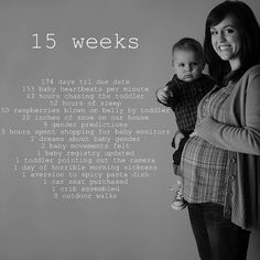 15 Weeks by Adventures of the Stay At Home Mom, via Flickr
