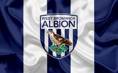 Download wallpapers West Bromwich Albion, Football Club, Premier League, football, West Bromwich, UK, England, flag, West Bromwich emblem, logo, English football club