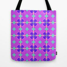 Flower Circles Tote Bag by Maggie Martin Art - $22.00