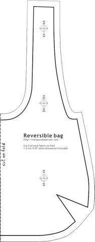 El molde que hoy traemos es para elaborar un bolso de mujer reversible. Esto significa que puedes utilizar una tela que sea distinta por delantey por detr