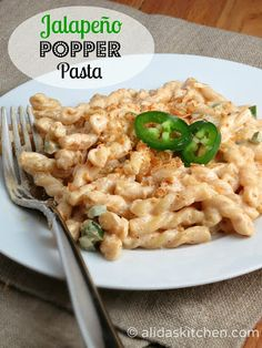Jalapeno Popper Pasta...i made this last night and added hot Italian turkey sausage..it was amazing!
