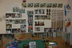 """'Look What I Can Do' display & documentation from L'Atelier School ("""",)------- displaying process with the art product at art show/ on bulletin board. Could then be used later as process steps reminders when teaching."""