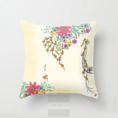 Shabby Chic Decorative Floral Throw Pillow Case  #gift #tumblr #cute #fashion #offers