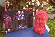 Cuaderno artesal forrado - 80 hojas A6 blancas lisas  Buda del amor - colores a elección