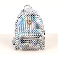 Classical drawstring backpack provided by vitoria are those of high quality hot sale cool punk gold spiky backpack stud bag school bag hobo men women unisex bag hot and traditional black backpack models, take a look at the new fashionable camera backpack! Pretty Backpacks, Unique Backpacks, Colorful Candy, Candy Colors, Holographic Bag, School Bags For Girls, Studded Bag, Designer Backpacks, Black Backpack