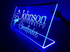 Laser engraved led edge lit acrylic Sign!