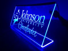 Laser engraved led edge lit acrylic Sign!