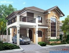 Modern bungalow house design philippines 2018 home designs ideas 2 Story House Design, House Front Design, Small House Design, Modern Bungalow House Design, Bungalow House Plans, Modern House Plans, Modern Zen House, Modern Design, Small Bungalow