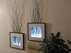 светильник-картина, сделанный своими руками в интерьере