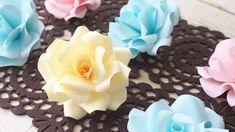 簡単!基本のバラの花の作り方【ペーパーフラワー】DIY How to Make Paper Roses Paper Plants, Crepe Paper, How To Make Paper, Handmade Flowers, Flower Making, Quilling, Paper Flowers, Paper Art, Crafts