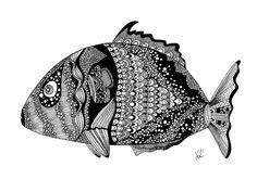 fish doodle