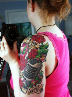 Music Tattoo Half Sleeve