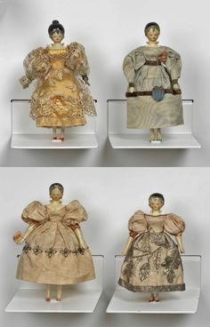 Queen Victoria's childhood dolls that she made with the help of her governess Baroness Louise Lehzen~Image © Royal Collection Trust Clothespin Dolls, Queen Victoria, Paper Dolls, Art Dolls, Victorian Dolls, Vintage Dolls, Dollhouse Dolls, Miniature Dolls, Tiaras