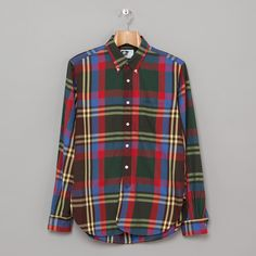 Engineered Garments 19th Century BD Shirt in Green / Red / Royal Plaid