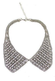 All Rhinestone Collars Necklace - Sheinside.com