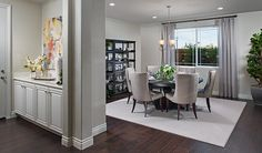 This open dining room in Mountain House, CA, makes entertaining easy   Chantel plan by Richmond American