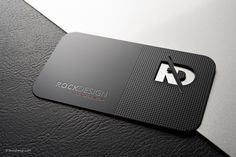 Professional black metal business card template - RD