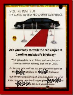 cute invite idea...could work with a little tweaking perfect for sammy's 16
