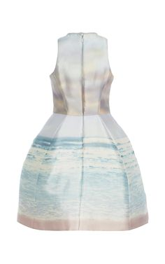Luminous Sunrise Printed Structured Dress by Monique Lhuillier for Preorder on Moda Operandi