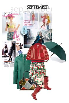 """""""September rain"""" by noconfessions ❤ liked on Polyvore featuring London Undercover, Stutterheim, Miu Miu, Gucci, Orla Kiely and Roma"""
