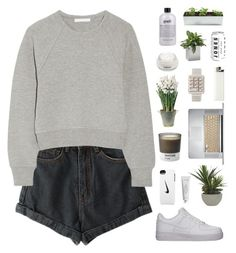 """Mom shorts"" by f-resh ❤ liked on Polyvore featuring Alexander Wang, NIKE, Lux-Art Silks, Byredo, Pantone, BULB, Darphin, Jan Kurtz and philosophy"