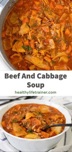 Beef and cabbage soup is the best warm soup you will ever have on a chilli day.