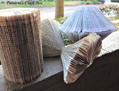 Book Page Folding Round Up! - Pandora's Craft Box