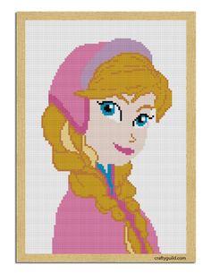 princess anna free cross stitch pattern-01