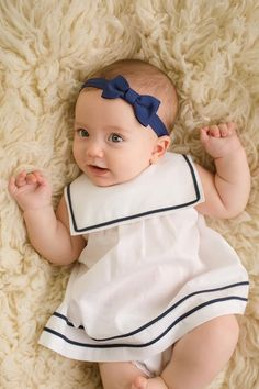 Nautical Dress Nautical Dress,Rancho Related posts:Schuhe - Toddler girl outfitsPhrase Out Hair Clips - Baby girl clothesHair accessories diy kids felt ideas for 2019 - Baby girl clothes Baby Girl Dress Patterns, Baby Dress Design, Little Girl Dresses, Baby Kind, Cute Baby Girl, Cute Babies, Baby Girl Fashion, Kids Fashion, Nautical Dress
