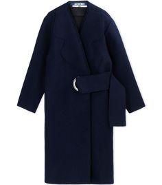 Jacquemus Dark Blue Belted Coat