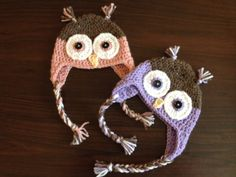 Crochet Owl Hat by CrochetHatShop on Etsy, $15.00