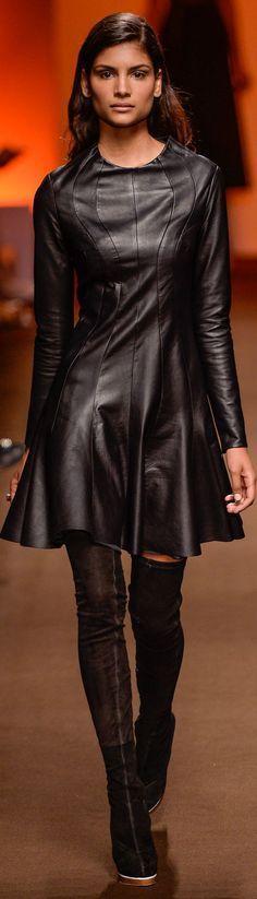 @roressclothes clothing ideas #women fashion black leather dress