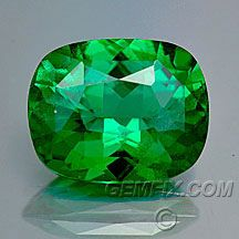 Tsavorite is a green grossular garnet. Cut Tsavorite of more than two carats is a rare and precious thing. It has a fresh, vivid green color, good wearing qualities, great brilliance and relatively reasonable prices. Unlike many other gemstones, the tsavorite is neither heated nor oiled. This gemstone does not need any treatment - it is beautiful in its pure, natural form. The color range of the tsavorite runs from a light green, an intense blue-green to a deep forest green.