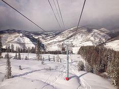 Ski slopes in Vail, Colorado.