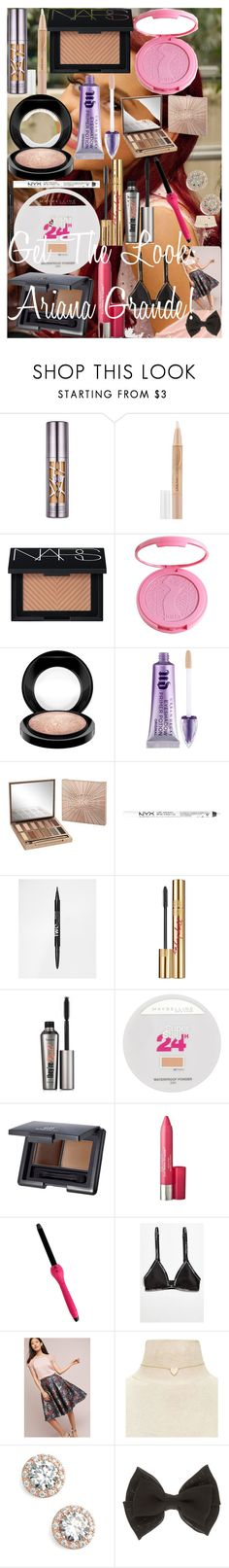 """Get The Look: Ariana Grande! ♡"" by oroartye-1 on Polyvore featuring beauty, Urban Decay, Maybelline, NARS Cosmetics, tarte, MAC Cosmetics, NYX, Yves Saint Laurent, Benefit and e.l.f."