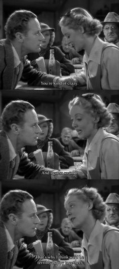 """""""Thats why i think we'd be terribly happy together!movie-the petrified forest Hollywood Scenes, Classic Hollywood, Old Hollywood, Cinema Quotes, Film Quotes, Classic Movie Quotes, Classic Movies, Old Movies, Vintage Movies"""