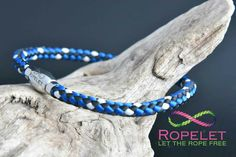 How would you like this great Ropelet made to the size you want, with a choice of clasps and at a great price? Then head to www.ropelet.co.uk where you will find this blue black and white one and all our other rope and leather bracelets.  You choose how it's made and we will handmake your order and ship it worldwide to you.  What's not to like . #ropelet #ropebracelet #bracelet #wristband #leatherbracelet #climbingbracelet #skateboarding #snowboarding #surferbracelet #paddleboarding #men