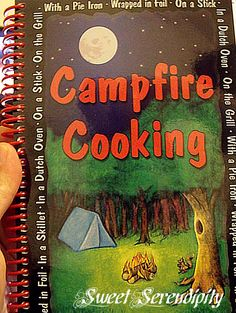 "camping fun w/ kids - including how to make ""magic pinecones"" that change the color of the campfire flames."