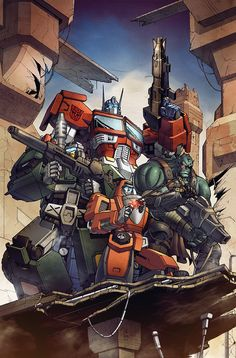 Transformers RID #19 cover B colors by khaamar.deviantart.com on @deviantART