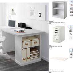 Make up desk. IKEA Alex, linmon and klimmpen