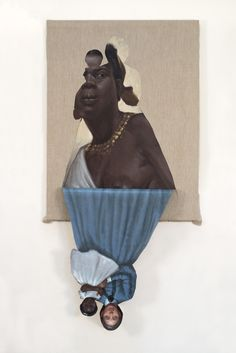 Her Mother's Mother's Mother, 2014 oil on canvas 72 x 36 x 1 3/4 inches ©Titus Kaphar.