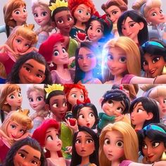 Disney re-did the art for a princess in Wreck-It Ralph 2 after whitewashing criticisms Funny Disney Pictures, Disney Princess Pictures, Disney Princess Movies, Disney Movies, Disney Characters, Disney Princesses, Princess Tiana, Disney Funny Moments, Disney Pocahontas
