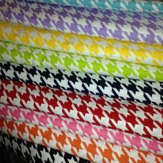 Houndstooth Fabric by Riley Blake  #rileyblakedesigns #houndstooth #quiltingfabric #quiltingcotton